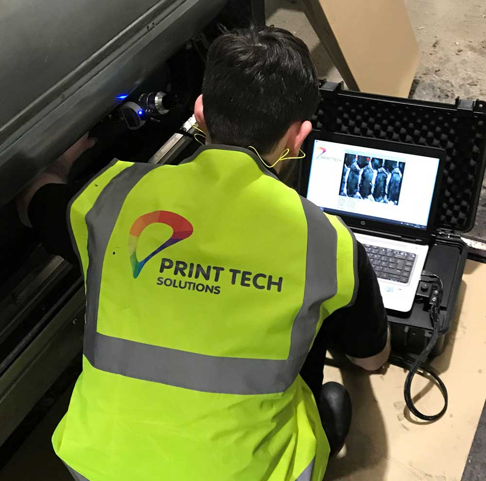 PTS conducting an Anilox Audit on site