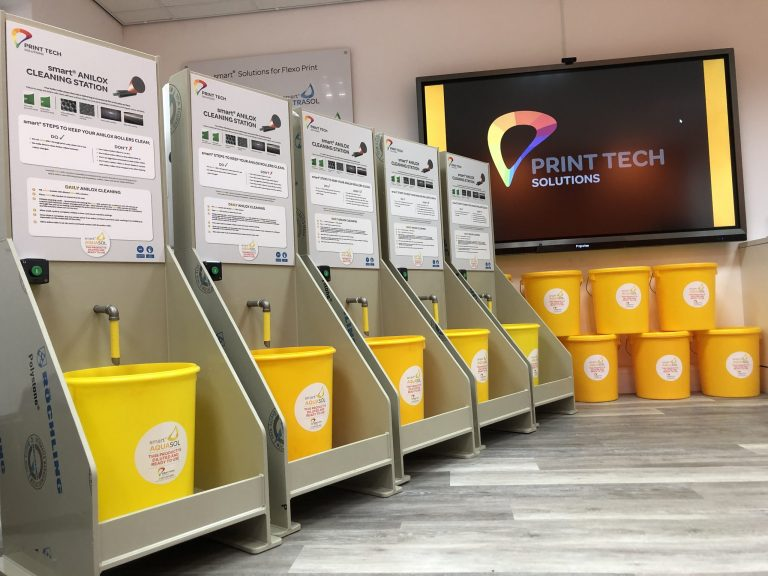 Our smart Dispensing Stations will help raise operator awareness of Anilox and press cleaning regimes